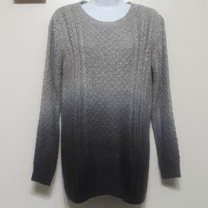 Topshop knit ombre dip dye sweater Sz 4